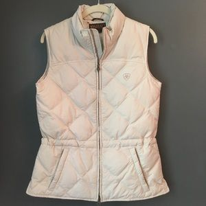 Ariat Down Vest Equestrian Riding Cream Puffer